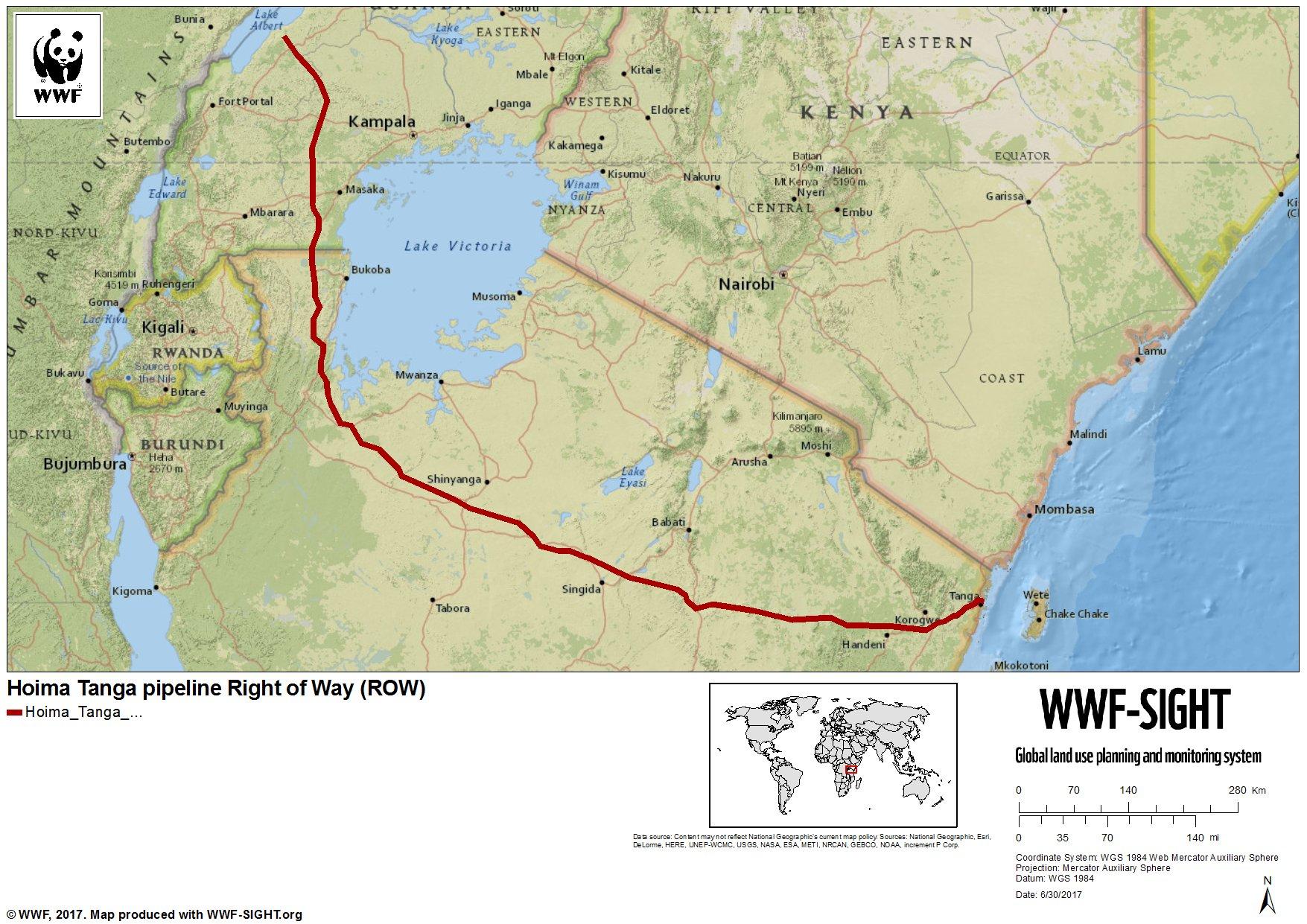 Hoima Tanga pipeline